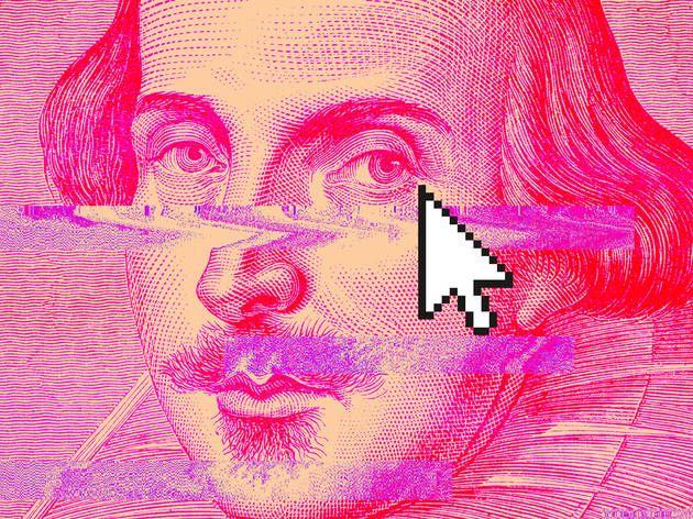 Digital portrait of William Shakespeare