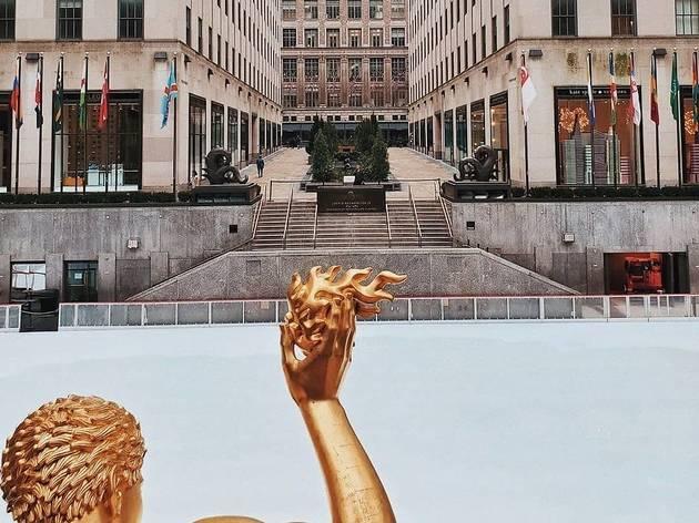 Empty Rockefeller Center