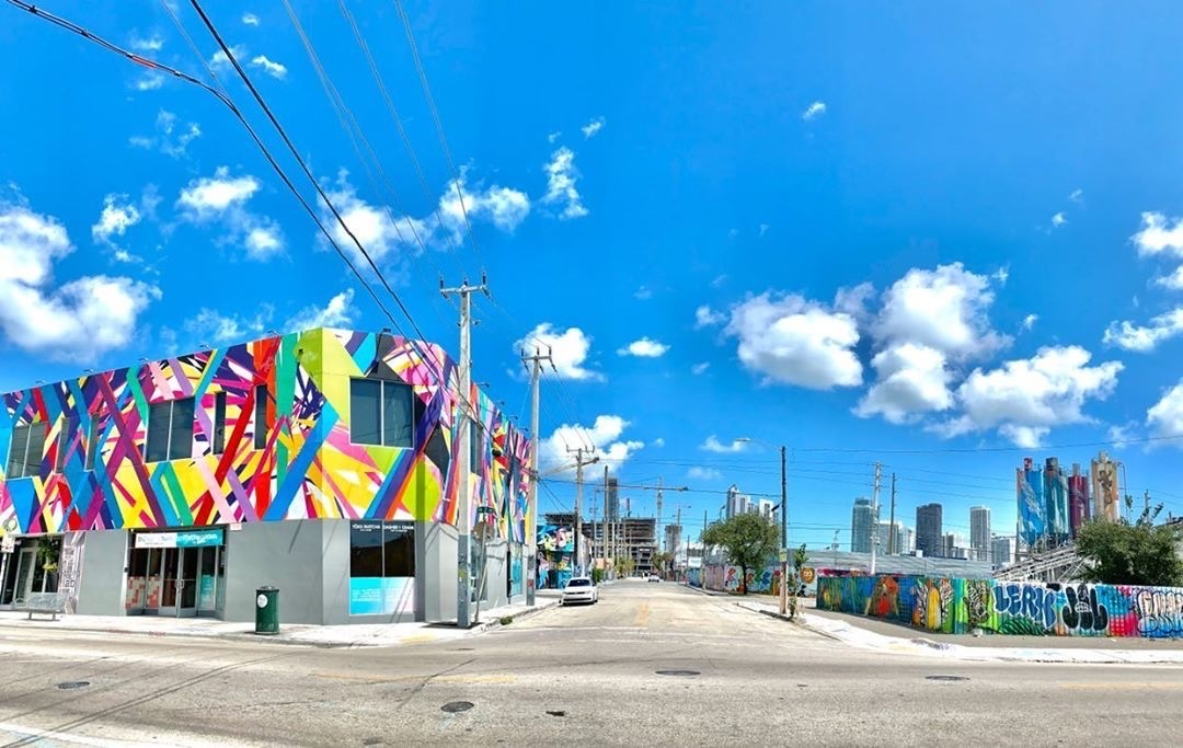 Wynwood Walls in Miami, deserted