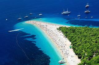 Zlatni rat beach in Bol, Island of Brač