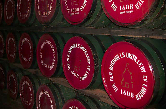 Irish whisky barrels K Mitch Hodge