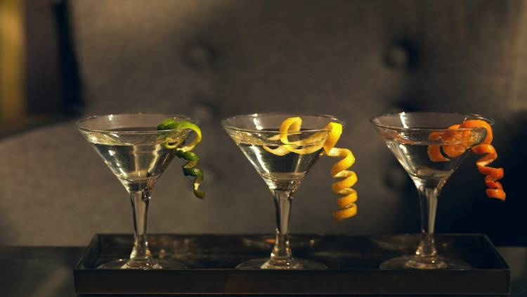 Martinis with different rinds