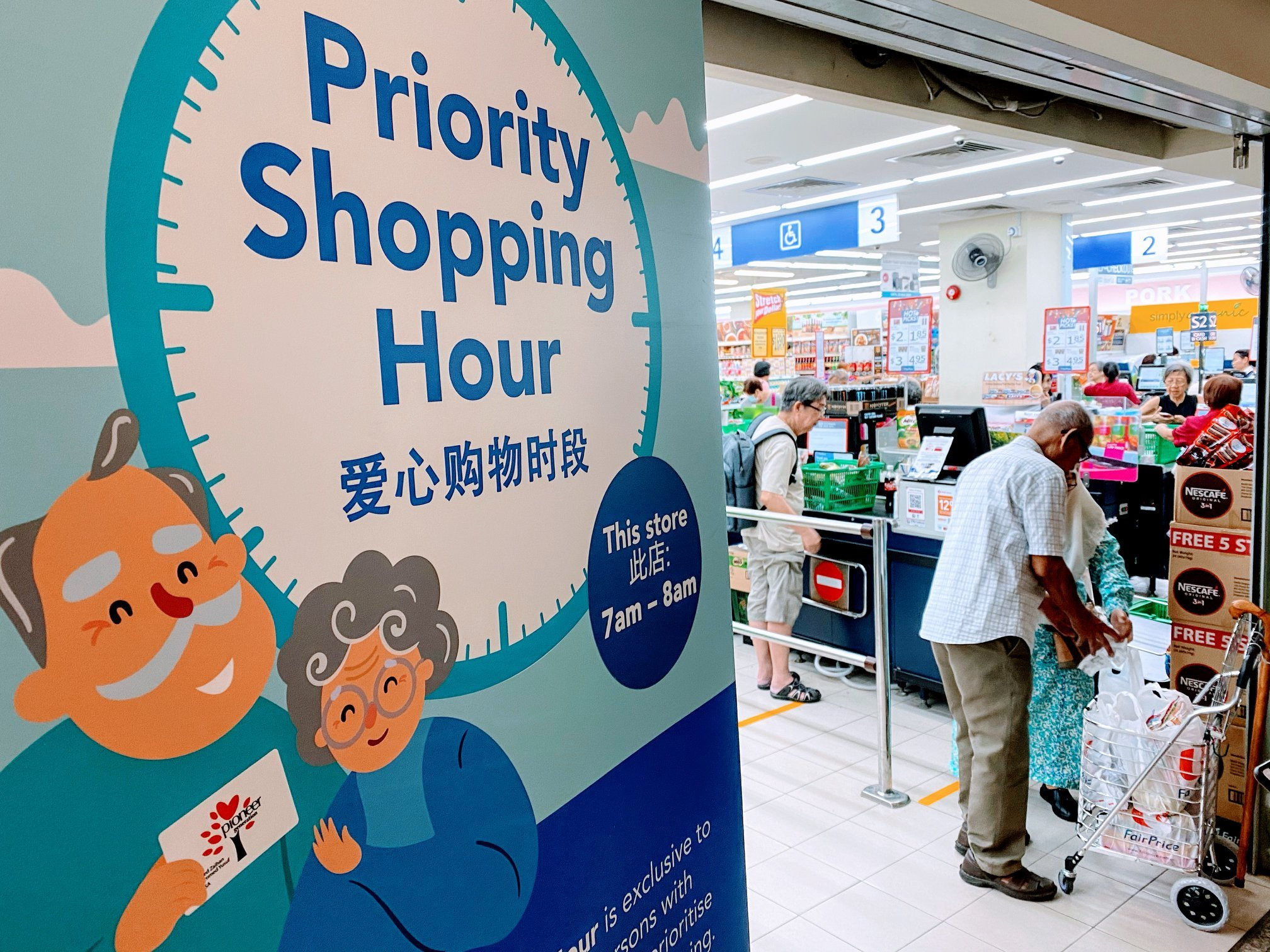 Priority hours at supermarkets for elderly and vulnerable groups start today