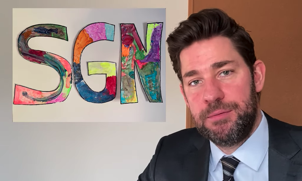 John Krasinski has a 'good news only' YouTube show