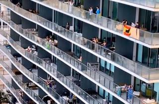 Balcony parties Miami at Paraiso
