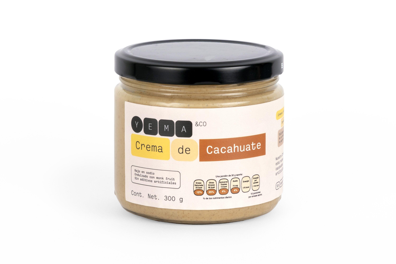 Frasco de crema de cacahuate