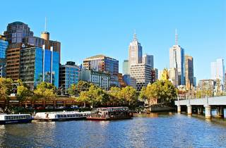 Melbourne skyline and Yarra River