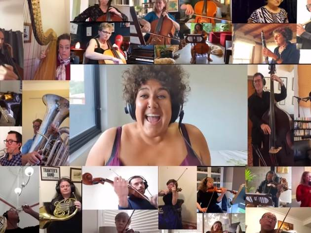 "Aussie performers have formed an ""isolation orchestra"" to help the live music industry"