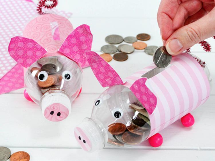 Dia 10: Um porquinho mealheiro personalizado