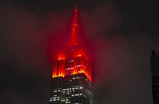 Empire State Building, tower lights, New York City