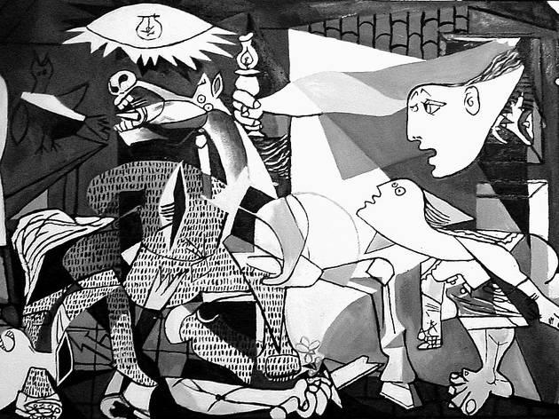 Guernica (1937), de Pablo Picasso, um dos artistas na colecção do Guggenheim