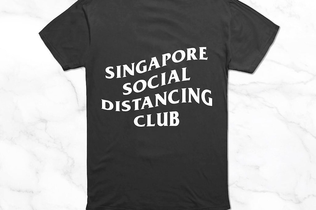 You can now buy social distancing t-shirts in support of The Courage Fund