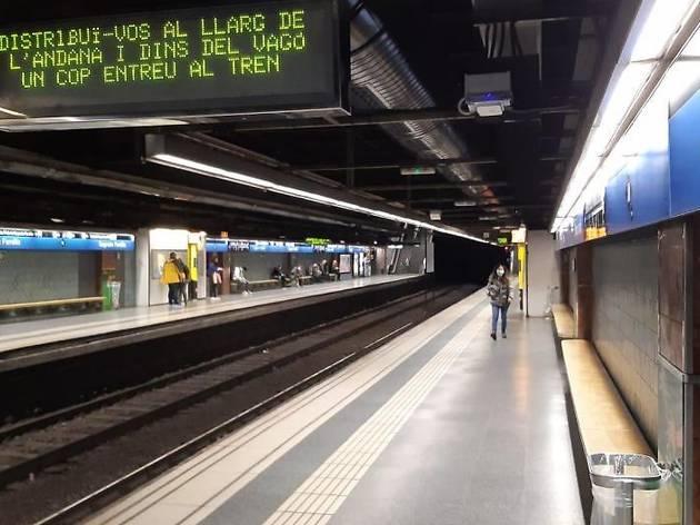 Parada de metro de Barcelona