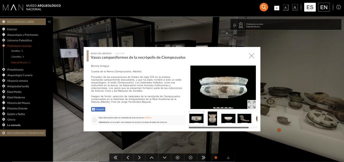 Museo Arqueológico Nacional virtual