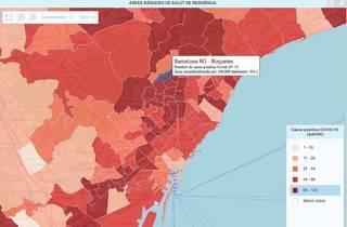 Mapa Coronavirus per barris