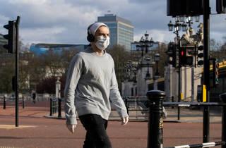 mask wearer in London