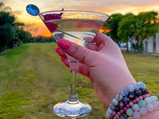 Amber Love Bond martini