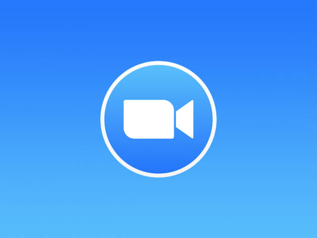Zoom video chat app logo