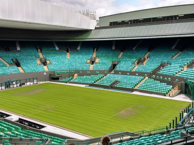 Centre court at the All-England Lawn Tennis Club, Wimbledon