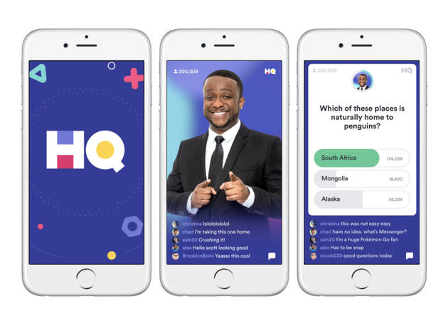 The trivia-for-cash game app HQ is back on the air every night