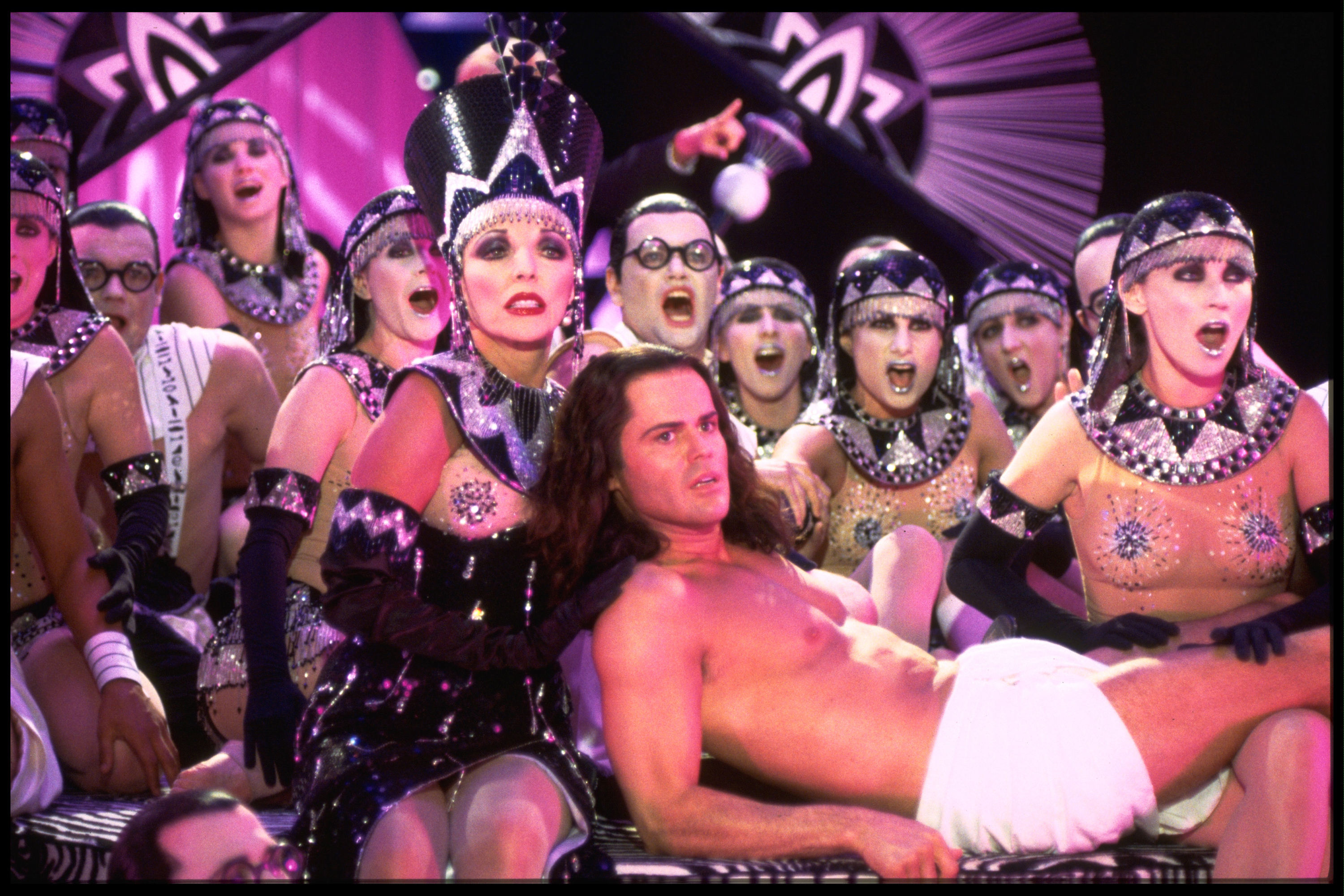 Donny Osmond and Joan Collins in Joseph and the Amazing Technicolor Dreamcoat