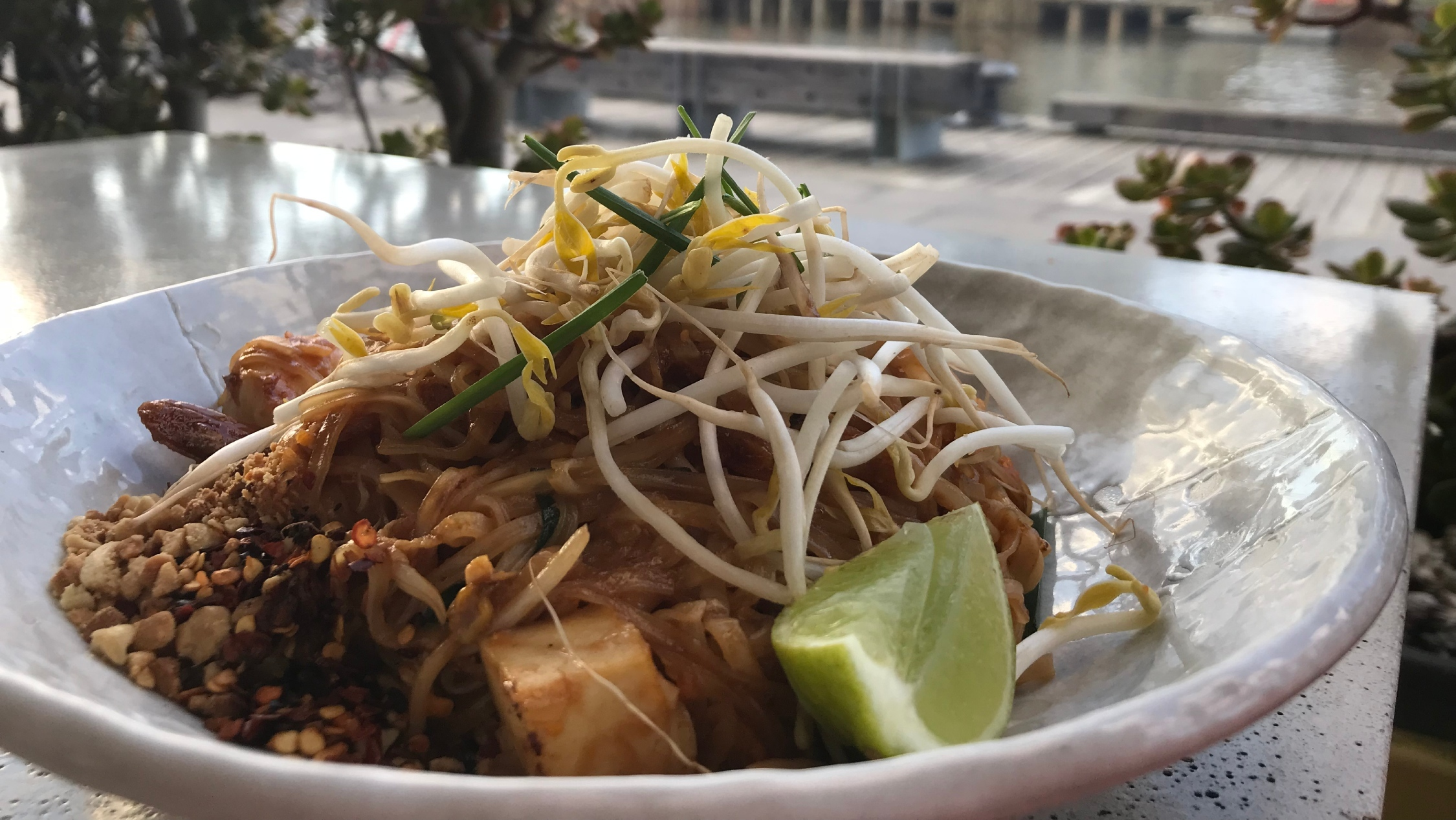 A plate of pad thai