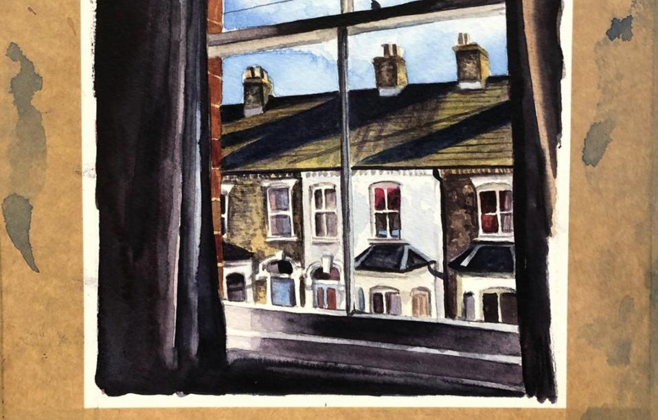 This artist is painting people's lockdown views