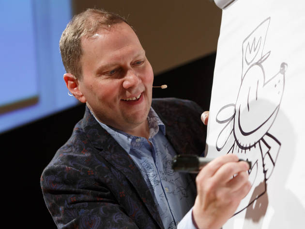 Drawing lessons with Dav Pilkey