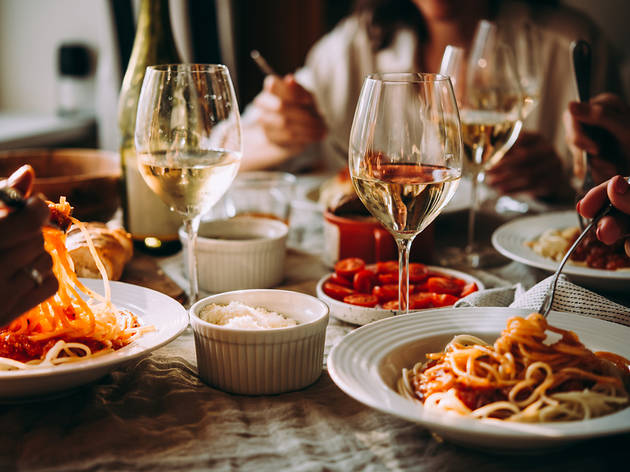 Italian eating