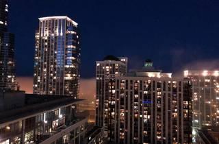 South Loop balcony at night