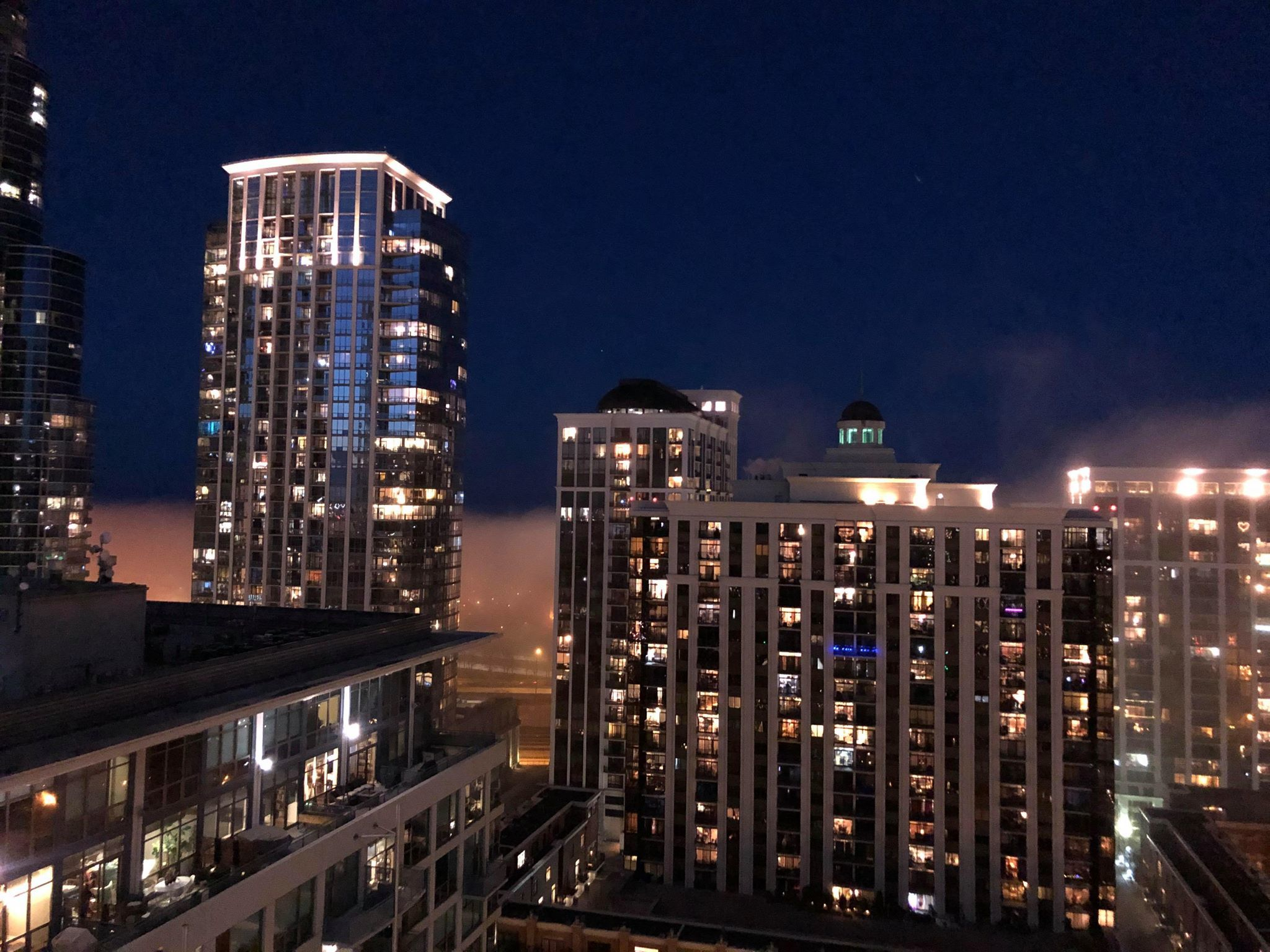 South Loop residents are saluting healthcare workers with nightly balcony celebrations