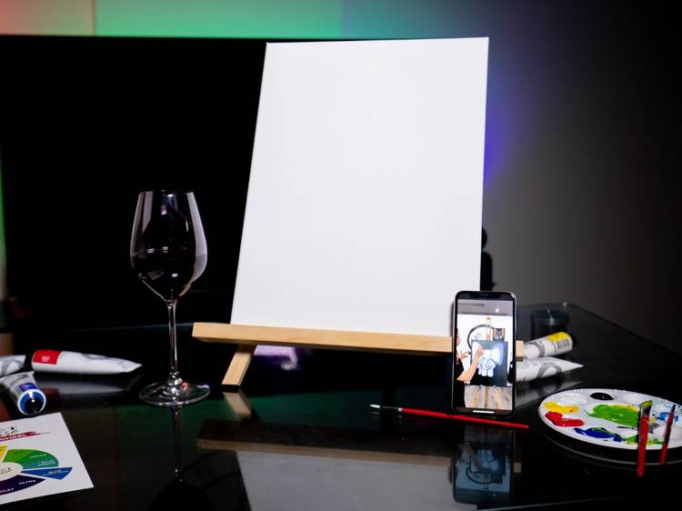 Sip and paint your way through iso with digital classes and art packs