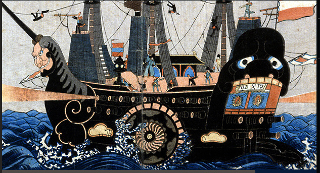 Japanese depiction of Perry's Black Ship