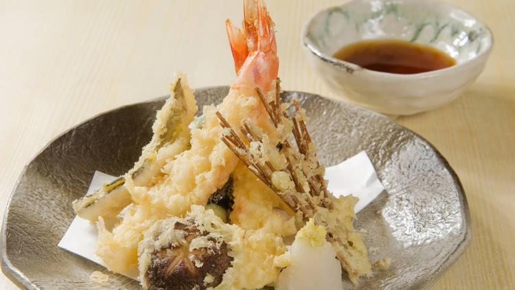 Tempura, shrimp, mushroom
