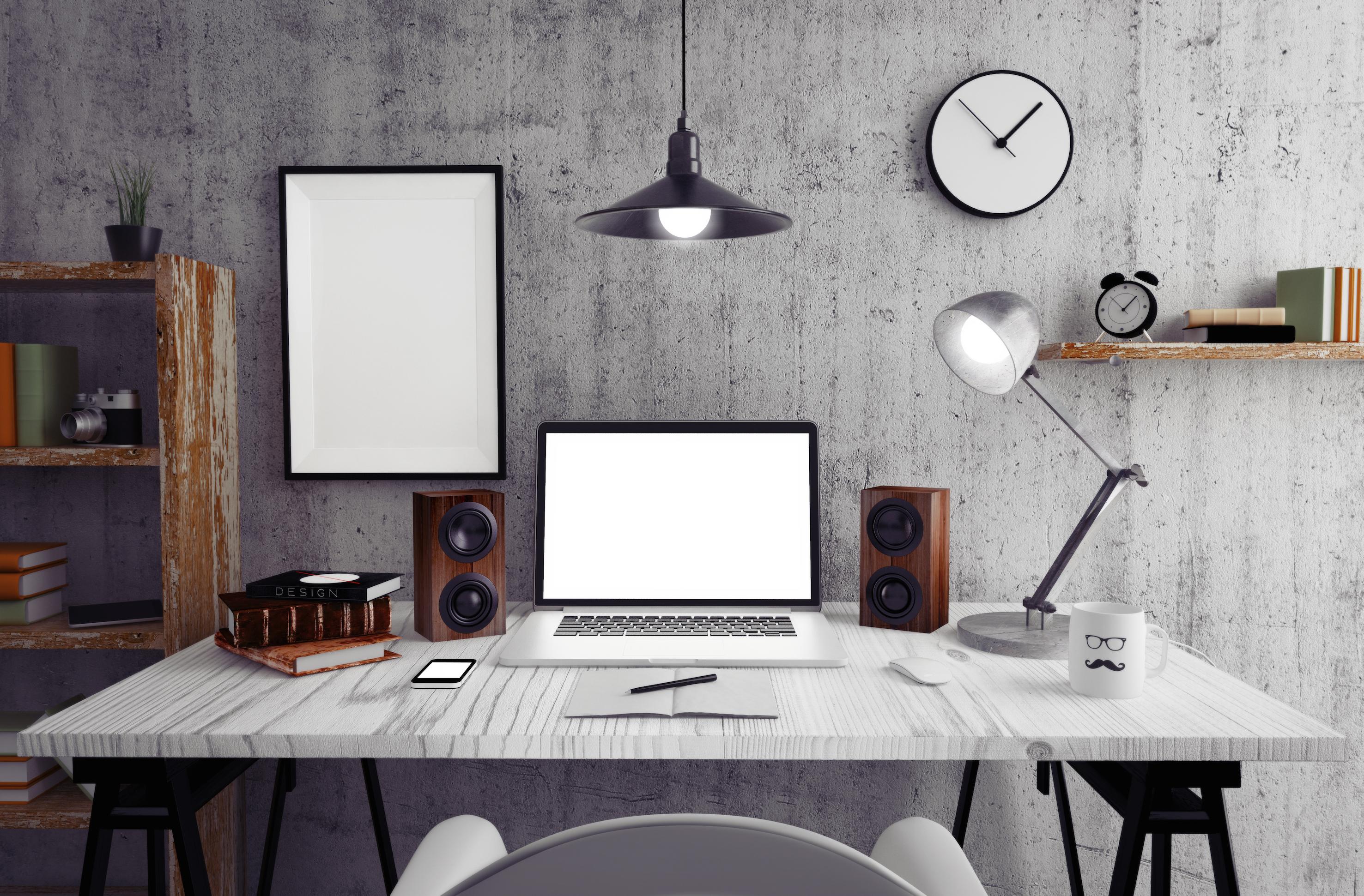 Zona de trabajo escritorio Feng Shui