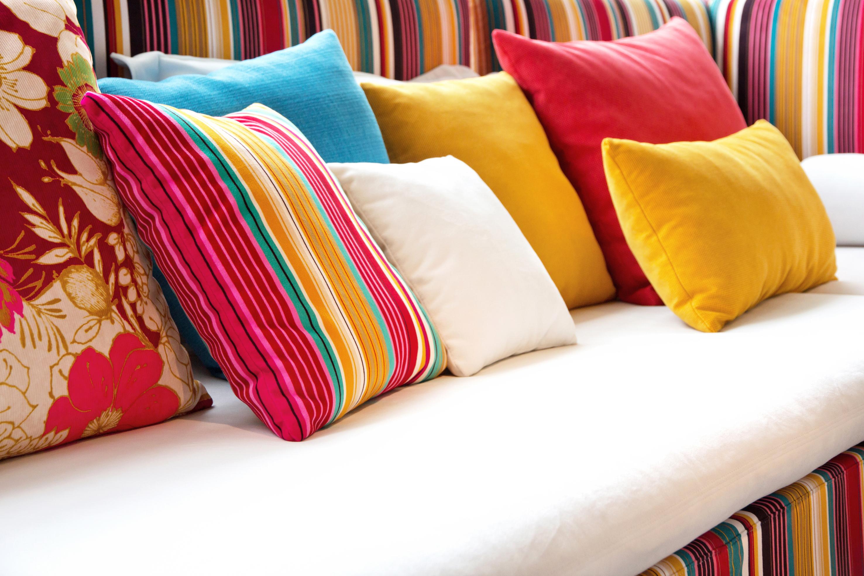 Cojines de colores interiorismo Feng Shui