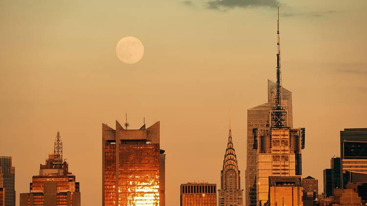 Super moon over New York