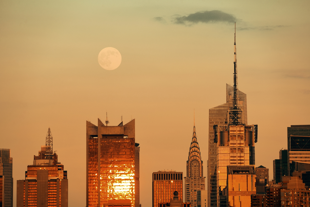 Super moon over New York