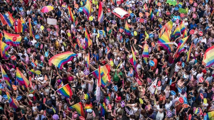 A pride celebration in Turkey