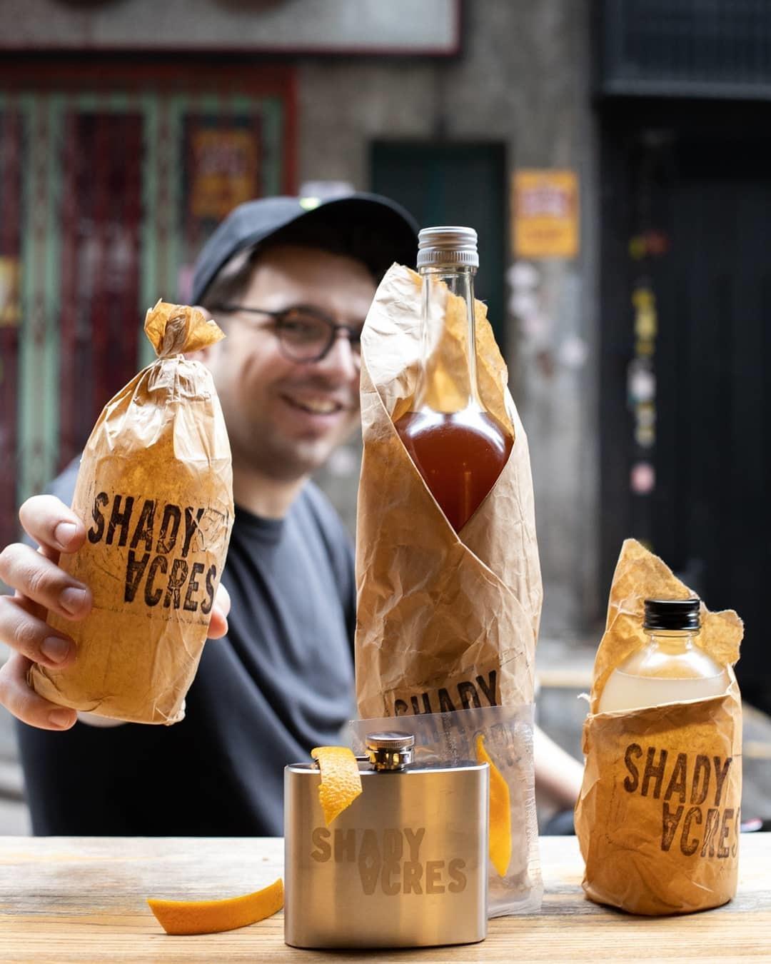 Shady Acres bottled cocktails