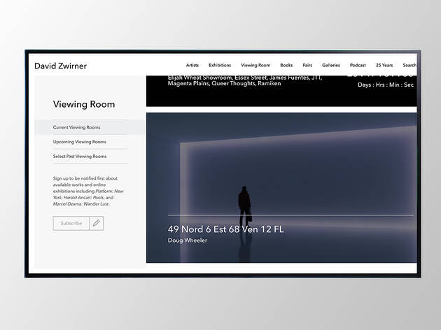 David Zwirner online virtual viewing room