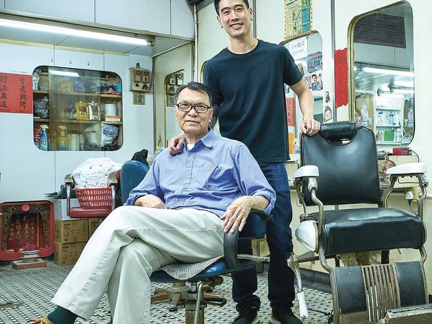 Old and New gen barbers in HK