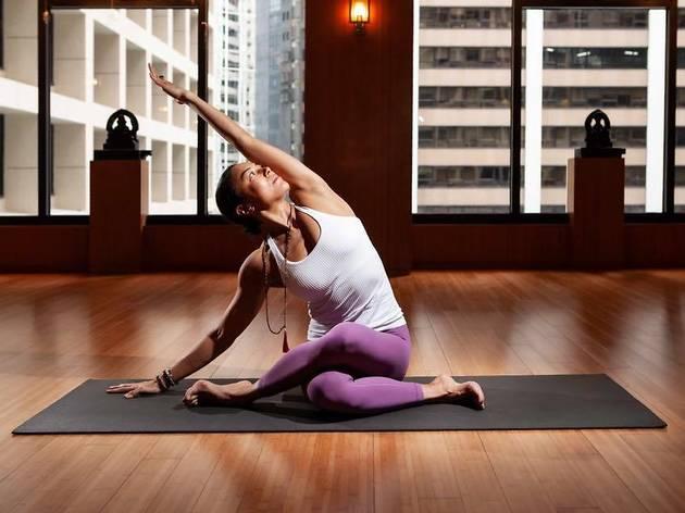 oriental spa yoga workout
