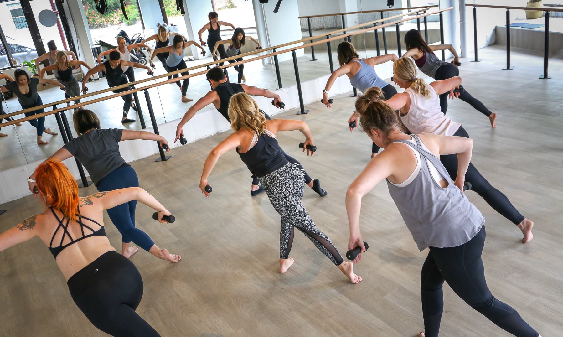 Exercise class at S3 Studio in Melbourne