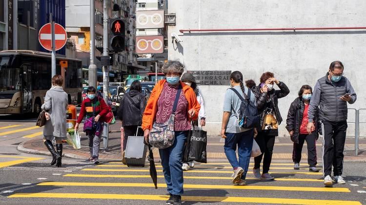 outside hong kong face mask