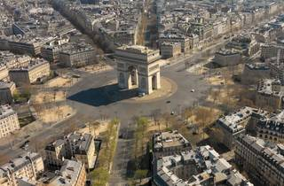 The Place de l'Etoile from above
