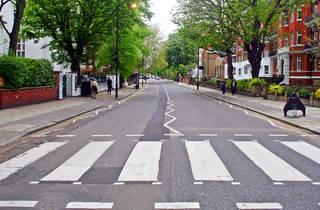 London's Abbey Road crossing, empty of people