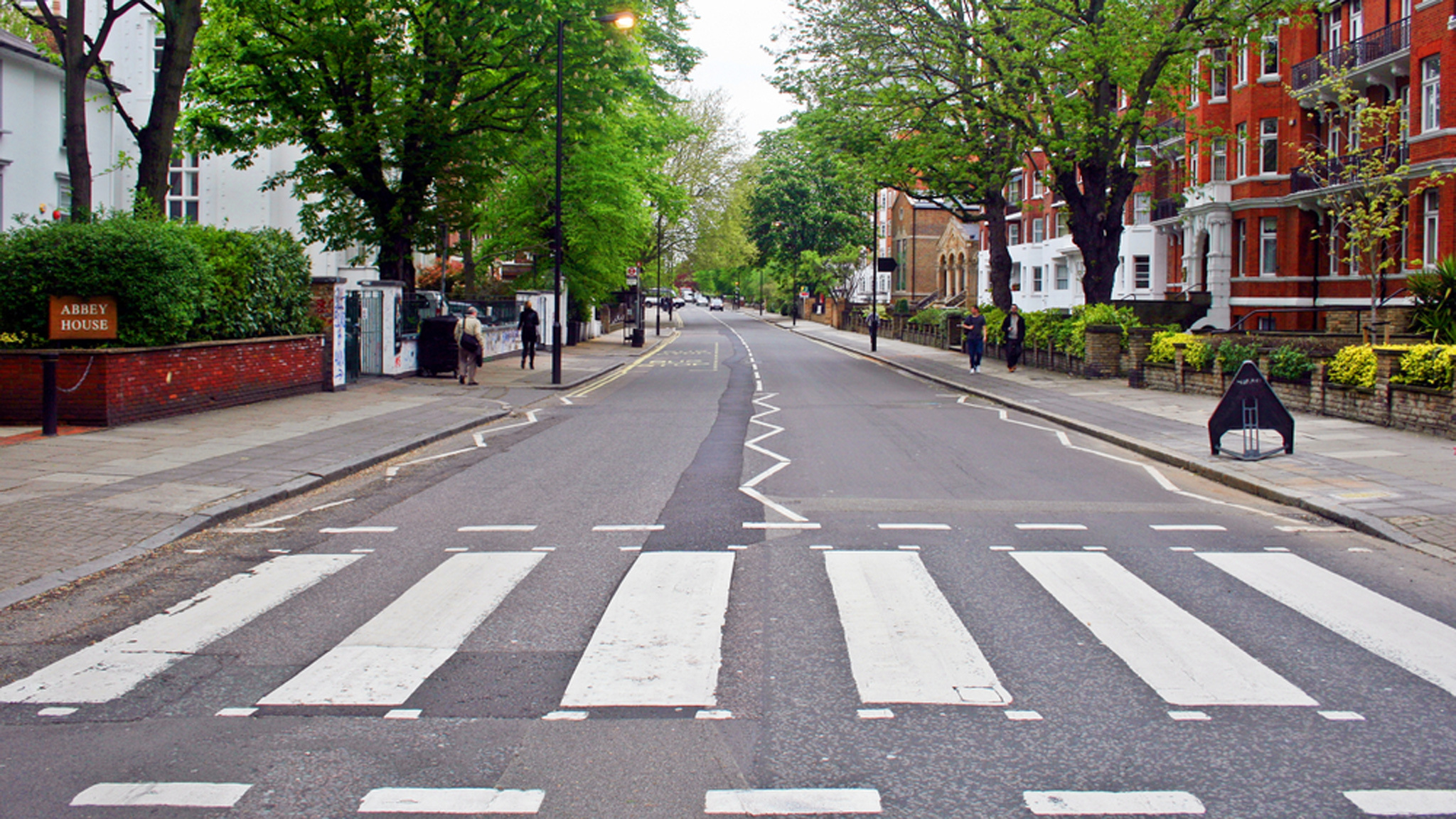 London is so empty that they've repainted the Abbey Road zebra crossing