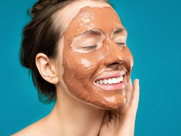 Máscara facial de mel