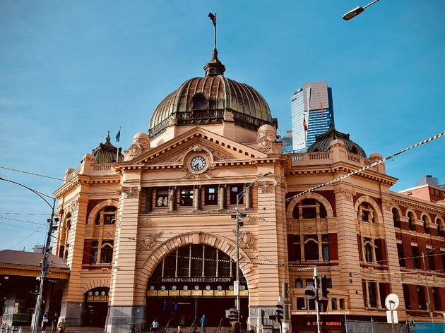 Flinders Street Station in daylight